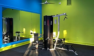 Fitness Weight Room, River Pointe Apartments, 2
