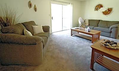 Living Room, Gatehouse Apartments & Townhomes, 1