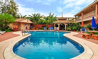 Pool, Texan Guest Ranch Apartments, 0
