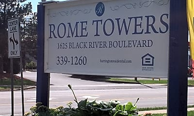 Rome Towers Apartments, 1