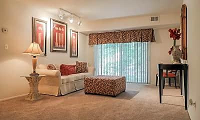 Living Room, Moravia Park Apartments, 1