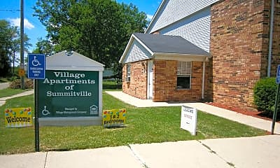 Community Signage, Village Apartments of Summitville, 2
