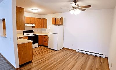 Kitchen, Wickham Apartments, 1