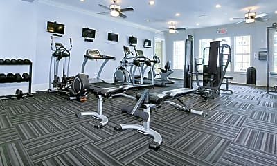 Fitness Weight Room, The Marquis on Berkeley, 2