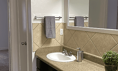 Bathroom, Royal Oaks Apartments (TX), 1