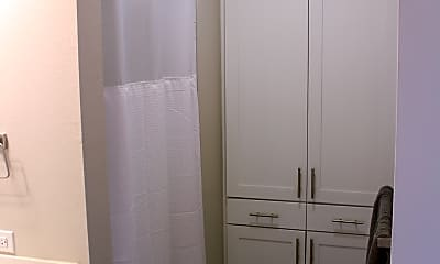 Master Bathroom Linen Closet and Shower, 1301 Chicon Street, Unit 203, 1