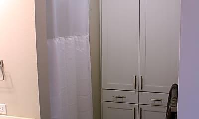 Master Bathroom Linen Closet and Shower, 1301 Chicon Street, Unit 203, 1