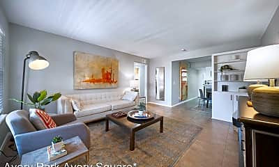 Living Room, Avery Park Apartments, 0