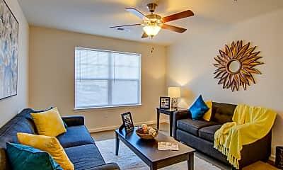 Living Room, New Post Apartments, 1