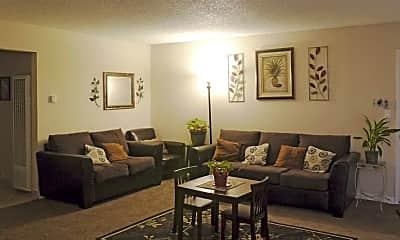 Living Room, Union Plaza Apartments, 1