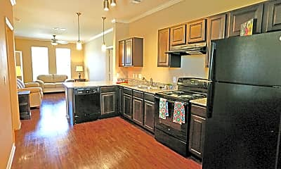 Kitchen, Park Central Apartments, 1