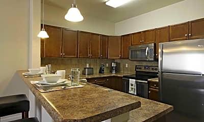 Kitchen, Crest View Apartments, 0