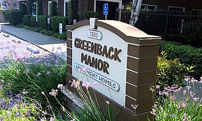 Greenback Manor, 1