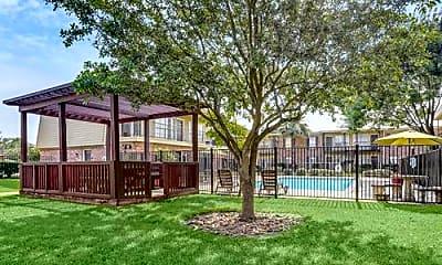 Courtyard, Jacinto Palms Apartments, 0