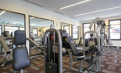 Fitness Weight Room, The Morgan, 1