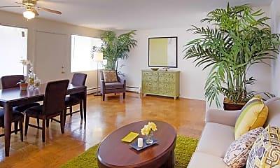 Living Room, Layton Hall Apartments, 1