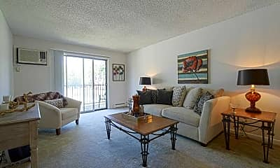 Living Room, Westbrook Apartments, 1