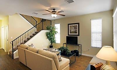 Living Room, Edgerock Townhouses, 1