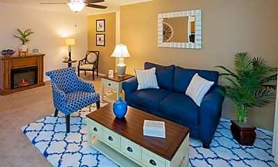 Living Room, Fox Meadow Apartments, 1