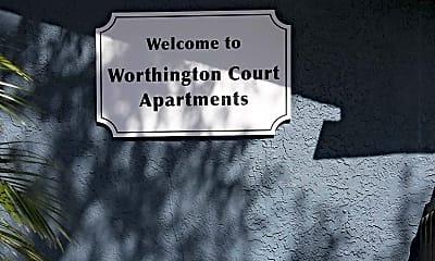Community Signage, Worthington Court Apartments, 2