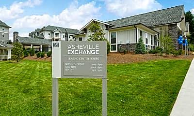 Community Signage, Asheville Exchange, 2