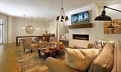 Living Room, Liberty Center Apartments, 1