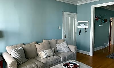 Living Room, 3728 N Marshfield, Unit 1, 2