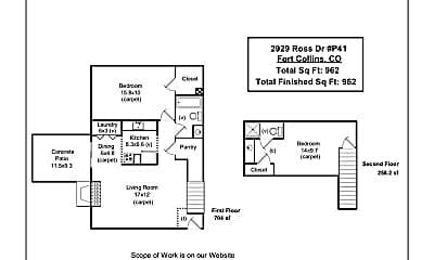 Bedroom, 2929 Ross Dr, 2