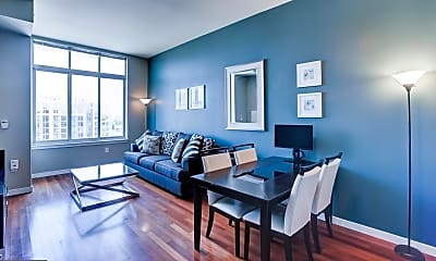 Living Room, 1000 New Jersey Ave SE PH 11, 1