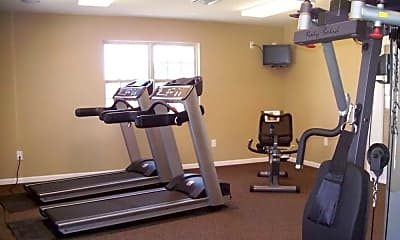 Fitness Weight Room, Apartments At Glenwood, 2