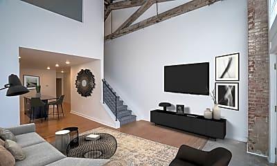 Living Room, Iron Mill Lofts, 1