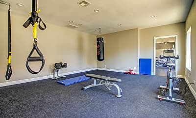 Fitness Weight Room, Chandler Meadows Furnished Apartments, 2