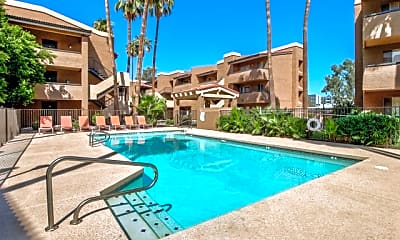 Pool, Villas on Apache ASU Off Campus Housing (By-the-Bed Pricing), 1