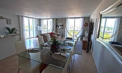 Living Room, 1701 Sunset Harbour Dr F407, 1