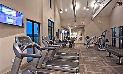 Fitness Weight Room, McKinney Village, 2