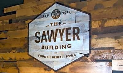 Community Signage, The Sawyer Building, 1