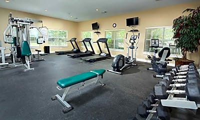 Fitness Weight Room, Olde Oak Apartment Homes, 2