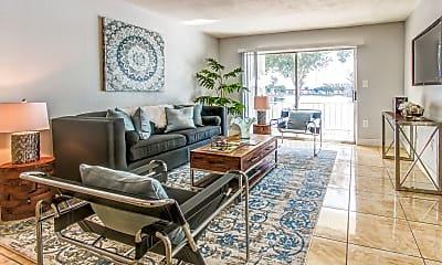 Living Room, Lake House Apartments, 0