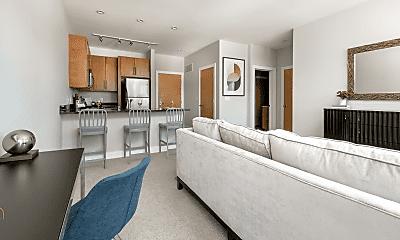 Living Room, 1100 N Cass St, 1