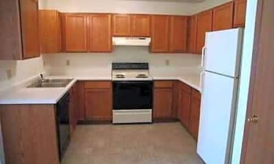 Kitchen, Whispering Pines Apartments, 1