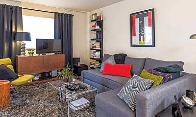 Living Room, Ridley Park Court Apartments, 2