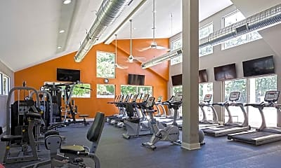 Fitness Weight Room, The Apartments at Midtown 501, 2