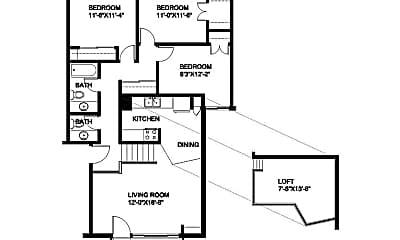 Living Room, 4626 S 20th St, 2