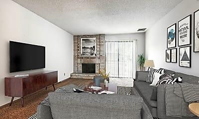 Living Room, White Lakes Plaza Apartments, 0