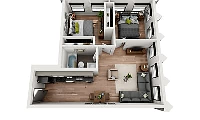 Living Room, 3345 Wilshire Blvd, 1