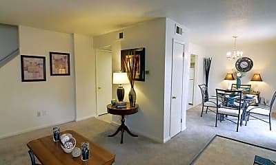 Living Room, Shadowbrook Townhomes, 1