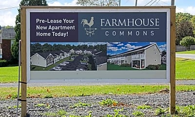 Community Signage, Farmhouse Commons, 2