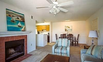 Living Room, Pass Pointe Apts, 1