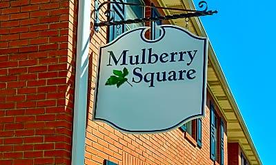 Community Signage, Mulberry Square, 2