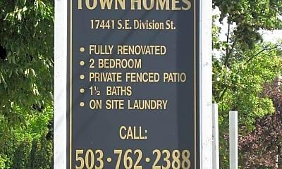 Community Signage, 17441 SE Division St, 0